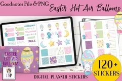 Easter Hot Air Balloon Digital Printable Stickers Goodnotes Product Image 1
