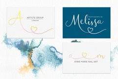 Waterfalls love font swash font Product Image 5