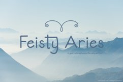 Feisty Aries Font | Hand Lettering | Multilingual & Ligature Product Image 1