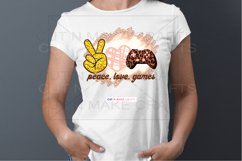 Peace Love Games Sublimation Design for T-shirts Gaming Tee Product Image 4