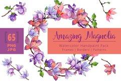 Amazing magnolia JPG watercolor flower set Product Image 1