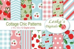 Cherry Digital Paper - Cottage Chic Product Image 1