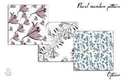 Spring digital paper, lilies flowers Product Image 4