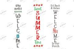 Summer Welcome Porch Sign SVG Bundle Product Image 2