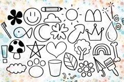 Doodle Procreate brushes, Procreate brushes, doodle stamp Product Image 4