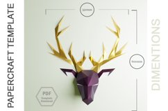 PDF Template Of Deer Papercraft /3D Papercraft Product Image 2