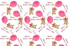 Birthday Girl Clipart and Digital Papers Set Product Image 3