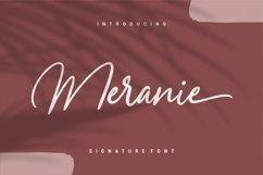 Meranie - Signature Font Product Image 1