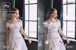 Christmas string light overlay, Fairy bokeh overlay Product Image 4