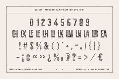 QUICK - Modern Hand-Painted SVG Font Product Image 2