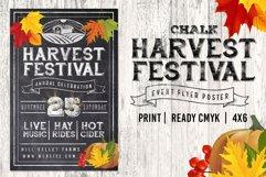 Chalk Harvest Festival Fall Flyer Product Image 1