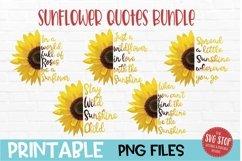 Sunflower Quotes Bundle Sublimation Design PNG Product Image 1