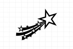 Shooting star SVG Cut File, Christmas decoration comet Product Image 1