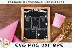 Birthday Chalk Board Sign SVG Product Image 4