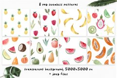 Watercolor Fruits. Patterns, Clipart Product Image 3
