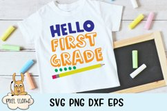 Hello First Grade Back To School SVG Product Image 1