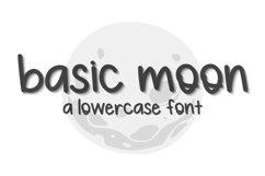 Basic Moon - A Lowercase Font Product Image 1