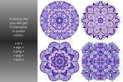 Set of bright vector mandalas Product Image 7