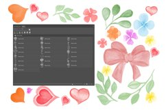 Flowers and leaves Photoshop Brushes Product Image 6