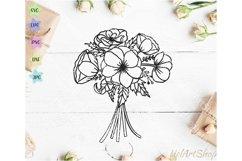 Anemones bouquet svg, flower arrangement svg, Floral bunch Product Image 1
