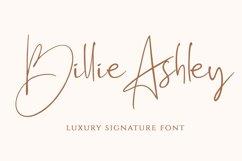 Billie Ashley - a Script Handwritten Font Product Image 1