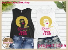 Black queens are born in June birthday t shirt design Product Image 3