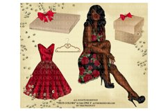 Christmas Clip art Afro American Clipart Christmas Clipart Product Image 4