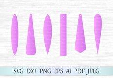 Earrings svg file, Rectangle earring svg, Bar drop svg file, Long pendant svg, Long fringe earrings, Leather earrings, Earrings laser cut Product Image 1