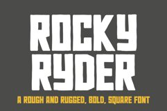 Rocky Ryder - a rough and rugged WEB FONT Product Image 3