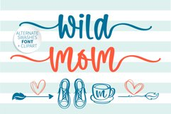 Wild mom- A swashes handritten font with doodle Product Image 1