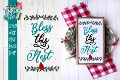 Bless This Nest Cardinal SVG Product Image 1