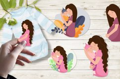 Mom and baby, mom's day clipart, png. eps. Product Image 1