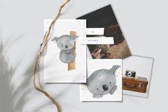 Koala clipart. Watercolor Australian animal clip art. Product Image 3