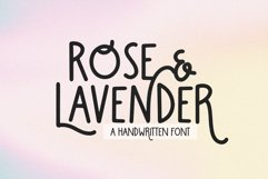 Rose and Lavender - A Fun Handwritten Font Product Image 1