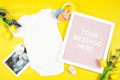Baby Wear Onesie Bodysuit Bib Mockup Styled Photo Bundle Product Image 5