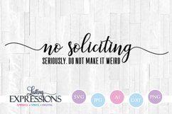 No soliciting svg // Front door sign Product Image 1