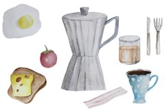 Watercolor breakfast clipart Product Image 2