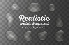 Realistic waterdrops set Product Image 2