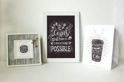Set of Banners with coffee quotes. Product Image 2