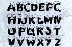 Handdrawn snowy display font Product Image 3