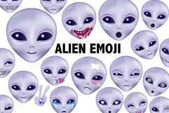 Alien Emoji Clipart Product Image 1