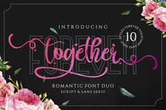 Forever Together - Romantic Font Duo Product Image 1