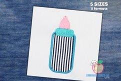 Baby Feeding Bottle Embroidery Design Product Image 1