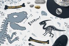Dinosaur skeletons vector clipart, alphabet, patterns Product Image 6