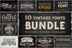 10 Vintage Font Families Bundle Product Image 1