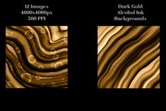 Dark Gold Alcohol Ink Backgrounds - 12 Image Set Product Image 4