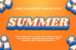 5 Summer Text Effect Graphic Styles Vector Product Image 2