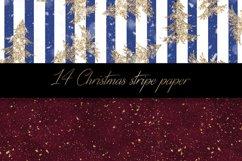Christmas stripe digital paper pattern Product Image 4