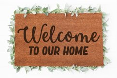Welcome to our Home doormat svg   Welcome sign svg   Doormat Product Image 1
