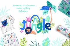 Nursery Art Jungle Animals Illustrations Patters & More Bund Product Image 1